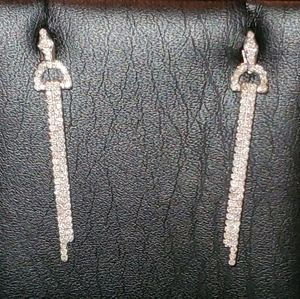 GORGEOUS 10K WHITE GOLD DIAMOND EARRINGS!!